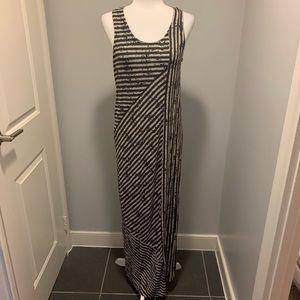 Calvin Klein Jeans Maxi Grey Striped Maxi Dress